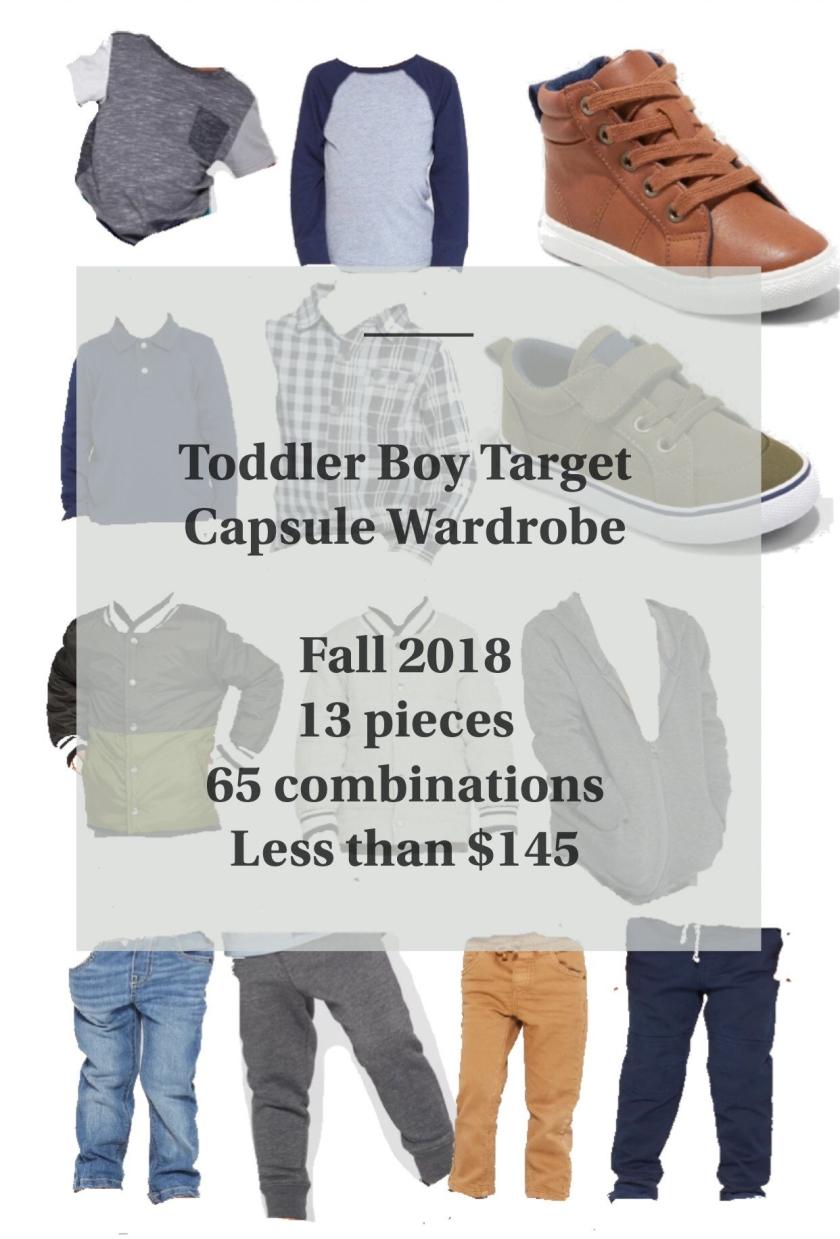 toddler boy capsule wardrobe 2018 target fall