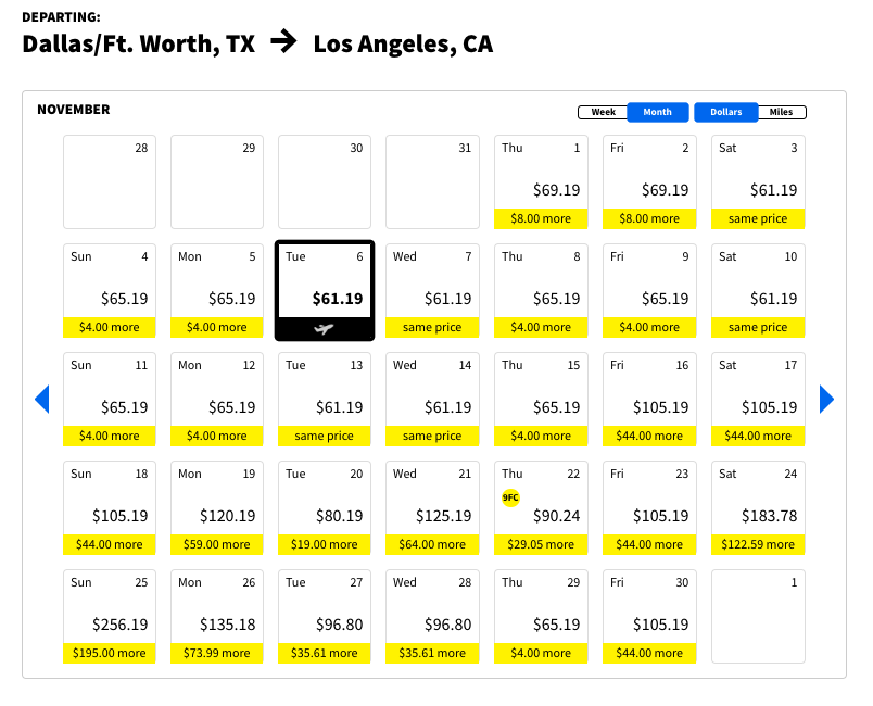 Spirit DFW-LAX for $82.40 roundtrip